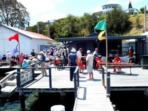 Sunday's closing BBQ on the wharves